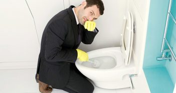 cách xử lí nhà vệ sinh bị tắc hay