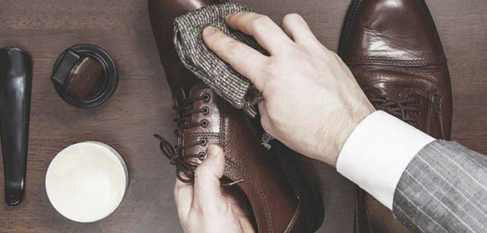 cách làm sạch giày da bóng mới