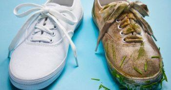 cách làm sạch giày vải trắng nhanh