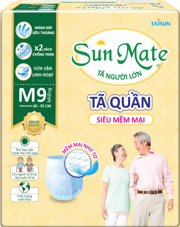 Tã quần SunMate có khả năng thấm hút tốt