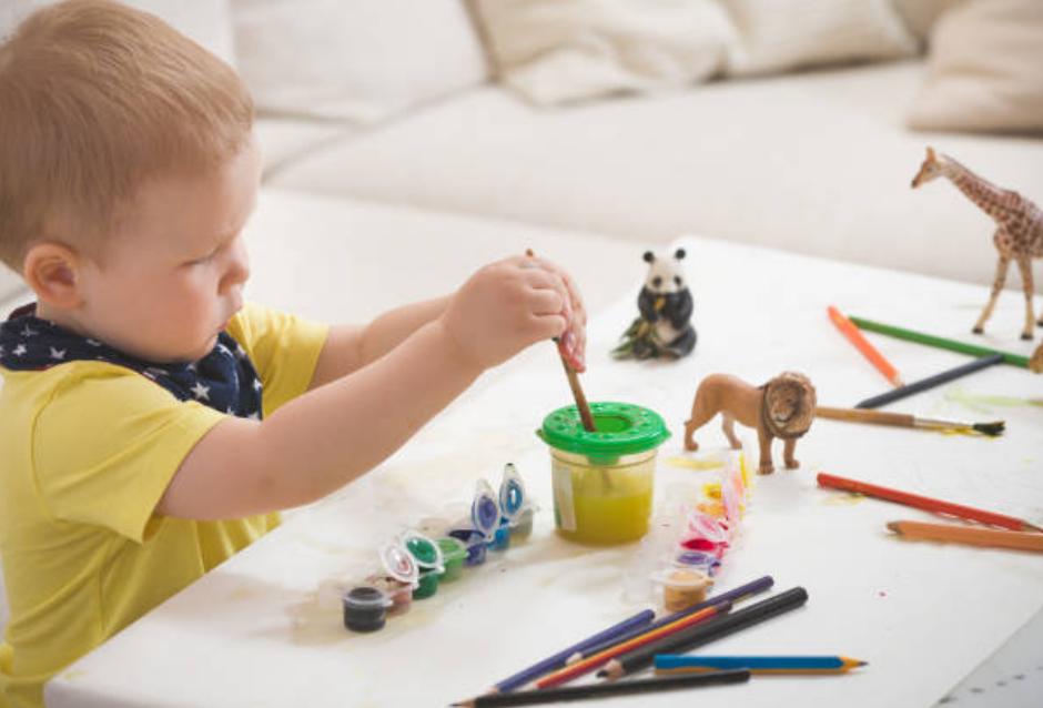 dạy con vẽ hình
