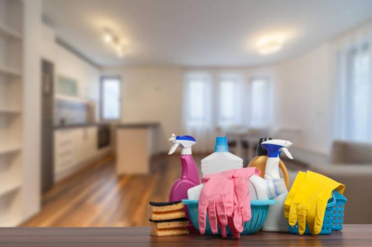 tập hợp công cụ làm sạch để dọn nhà nhanh chóng